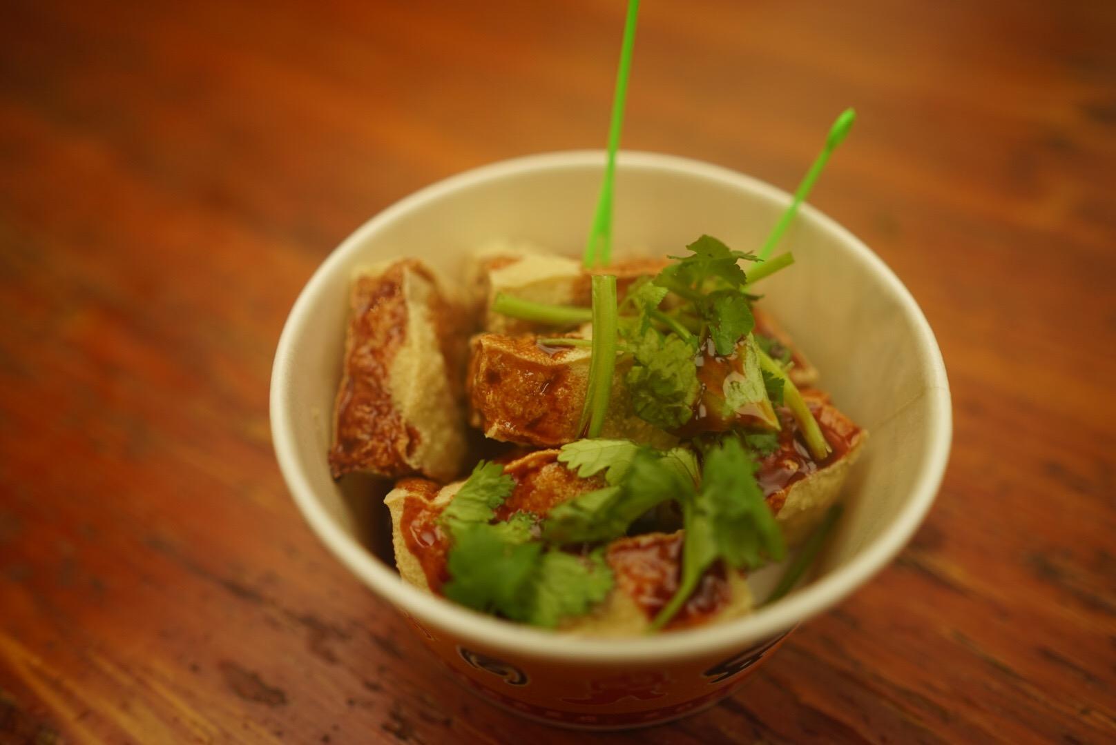杭州市の河坊街屋台ストリートの「臭豆腐」
